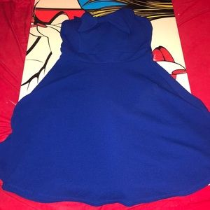 Blue halter top dress. Cute for outting